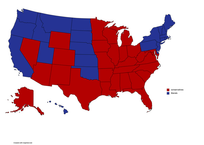 What would happen if the USA become two countries?