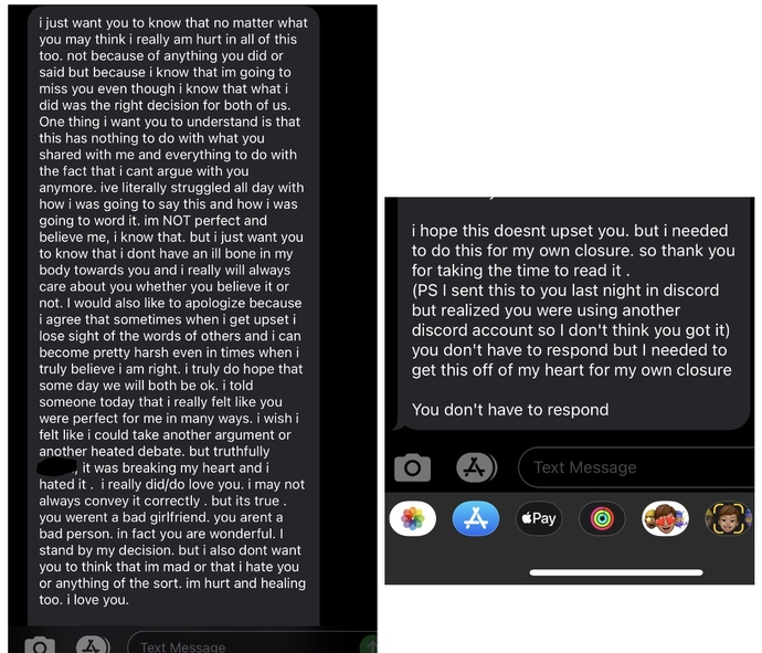 """My ex said """"you don't have to respond"""", is he telling me not to respond or is this some type of reverse psychology? see screen shot?"""