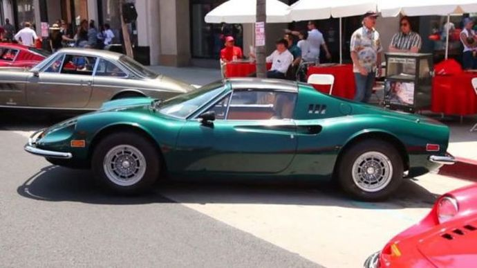 Restored buried 1974 Ferrari Dino 246 GTS