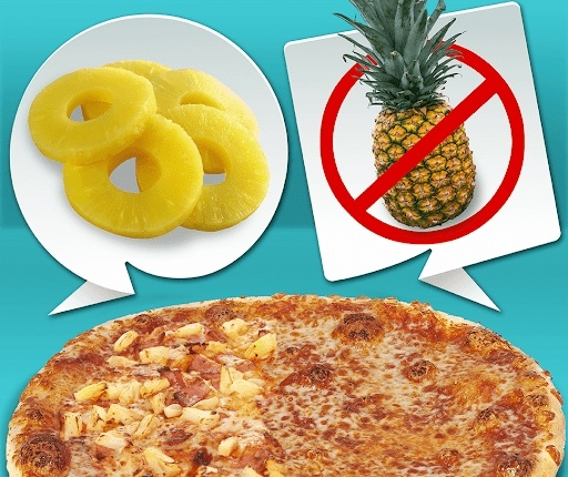 Pineapples on pizza, a crime or not?