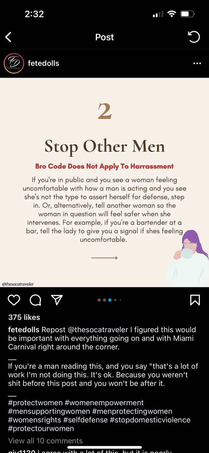 """""""9 Ways Men Can Help Protect Women in Public"""" Your thoughts?"""