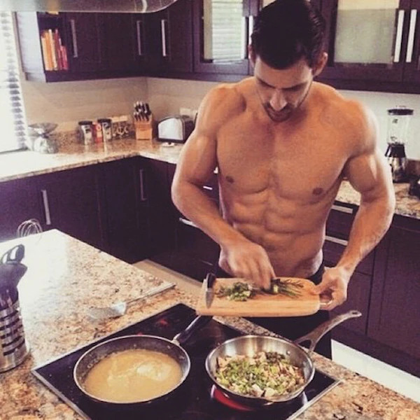 Imagine waking up and walking towards the kitchen, and seeing your girl/men like this, what will you do first?