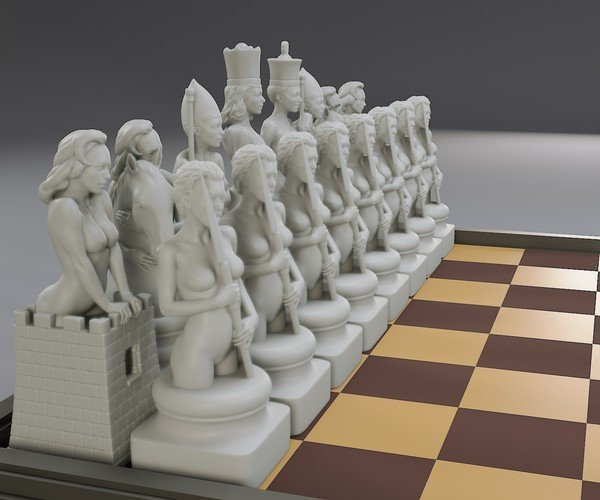 All chess pieces are actually female except for the king. Your thoughts?