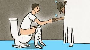 Random question: How would you feel while you were taking a shower, someone runs in to poop on the toilet next to you?