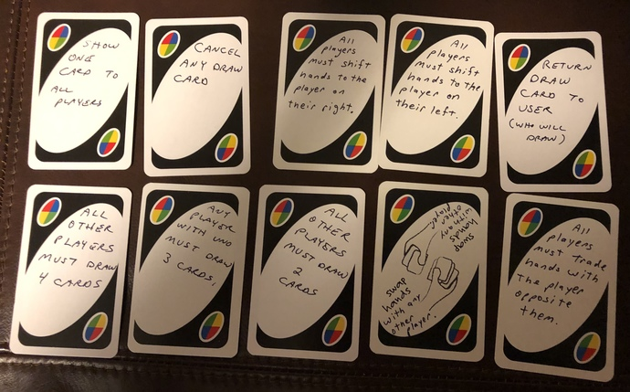 Two ideas for custom Wild cards for my UNO?