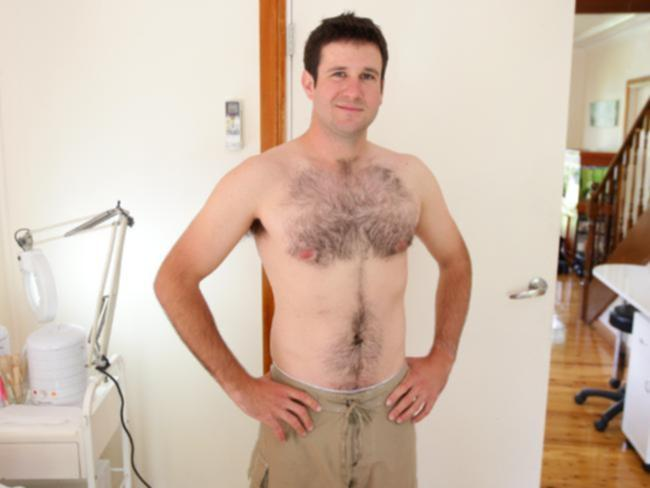 Waxed bare torso on men or natural hairy?