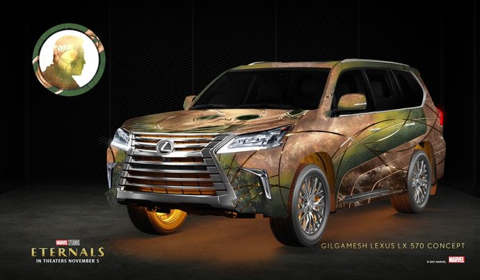 Which of these 7 Marvel Studios Eternals themed cars from Lexus is your favorite?