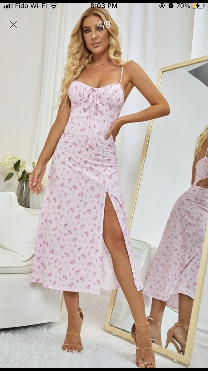 Does this dress look better in pink or blue?