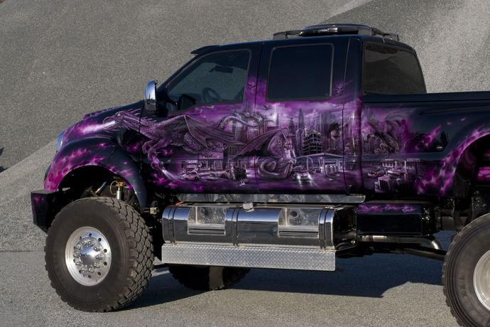Which of these 7 hand painted/drawn art vehicles is your favorite?