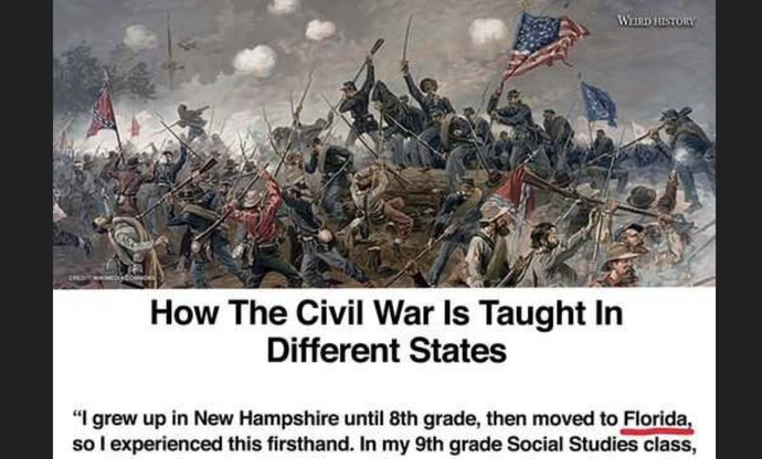 How was the Civil War taught in your school?